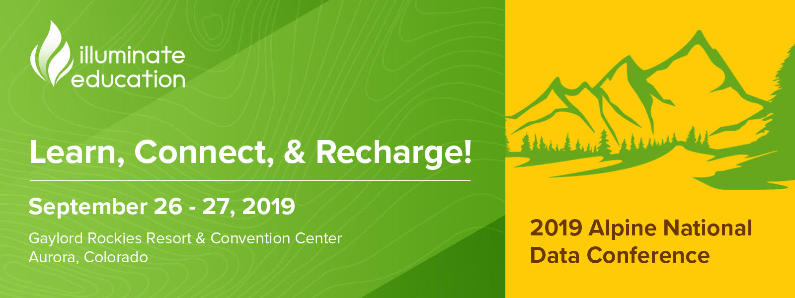 2019 Alpine National Data Conference landing page header banner