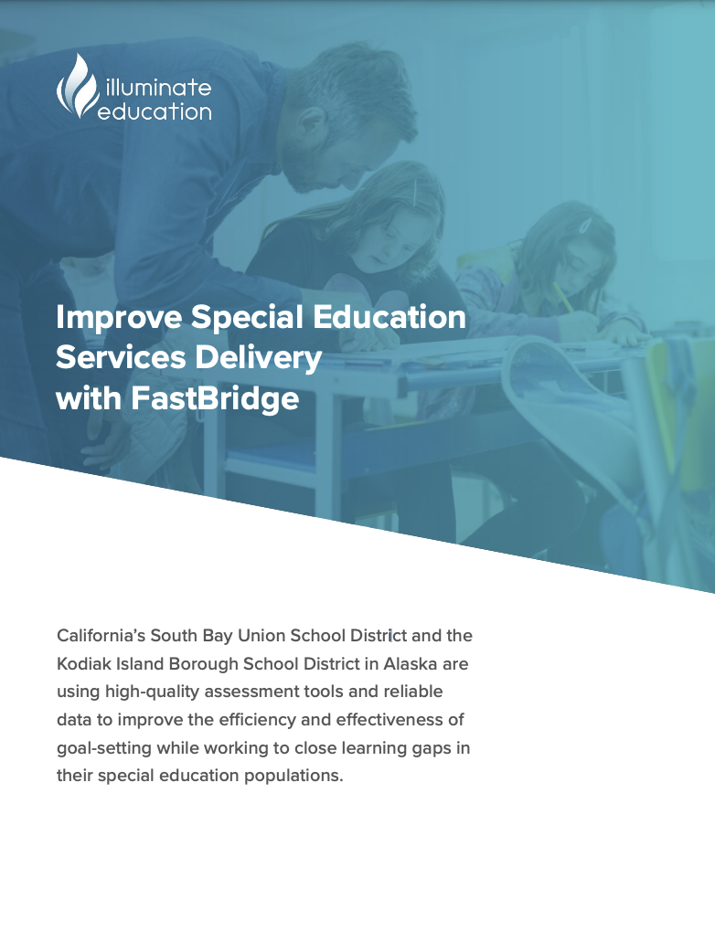 Improve Special Education Services Delivery with FastBridge